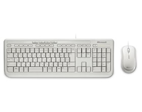 Microsoft Wired Desktop 600 White USB White Mouse  Keyboard Retail Pack