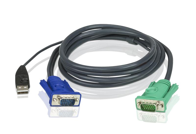 Aten 5m USB KVM Cable to suit CS8xU, CS174x, CS13xx, CS17xxA, CS17xxi CL5xxx, CL58xx