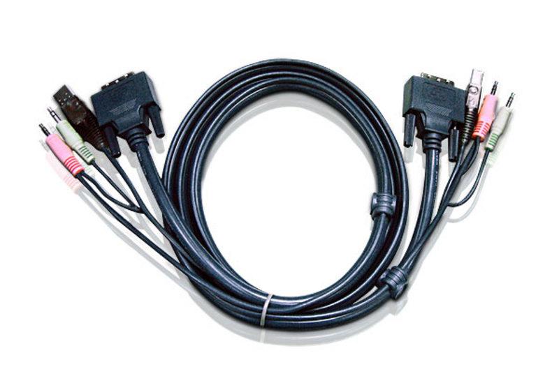 Aten 5m Dual Link DVI KVM Cable with Audio to suit CS178xA, CS164x'
