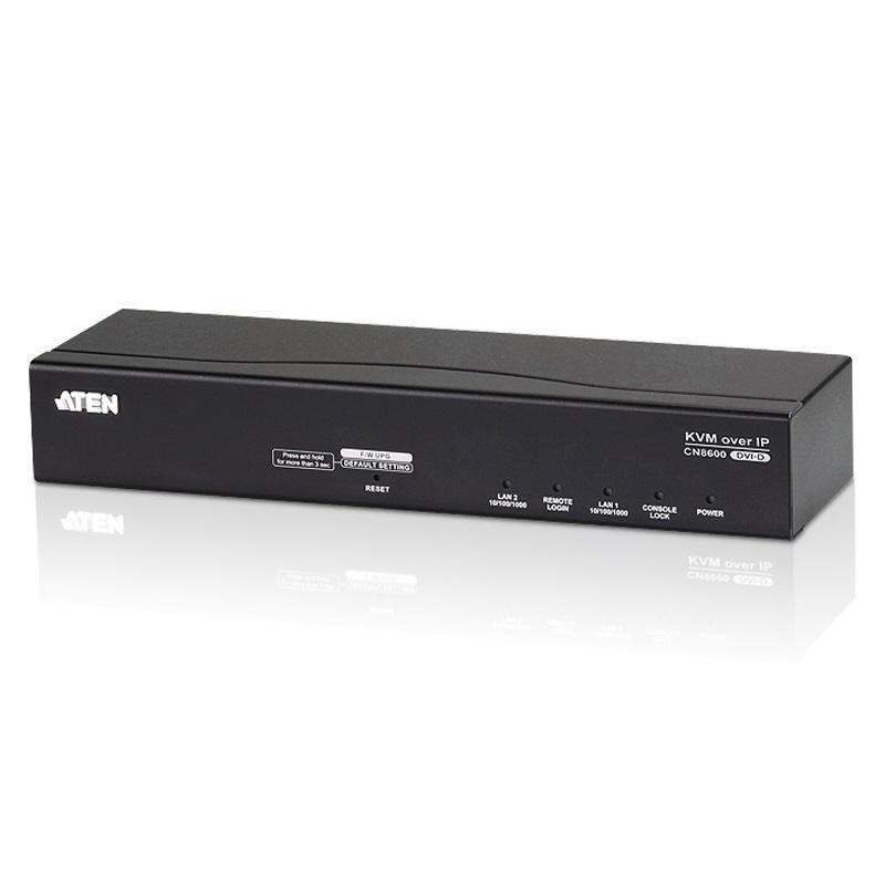 Aten DVI KVM Over IP (1- Port), Audio /Virtual Media/Smart Card/CAC