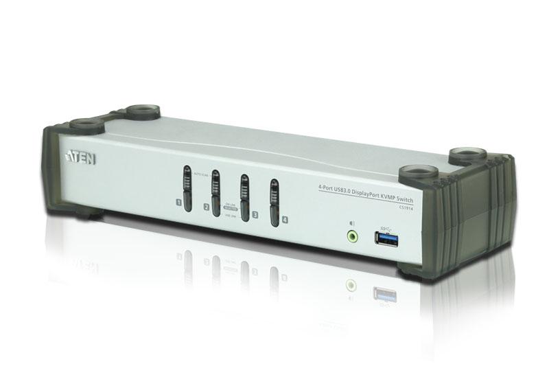 Aten 4 Port USB 3.0 4K DisplayPort KVMP (KVM cable included)