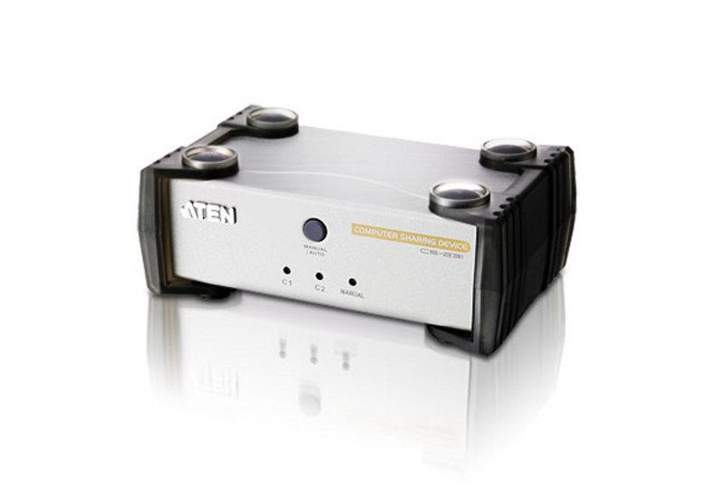 Aten 2 Port USB KVM Switch - Computer Sharing Device, 1 VGA USB KVM Cable included