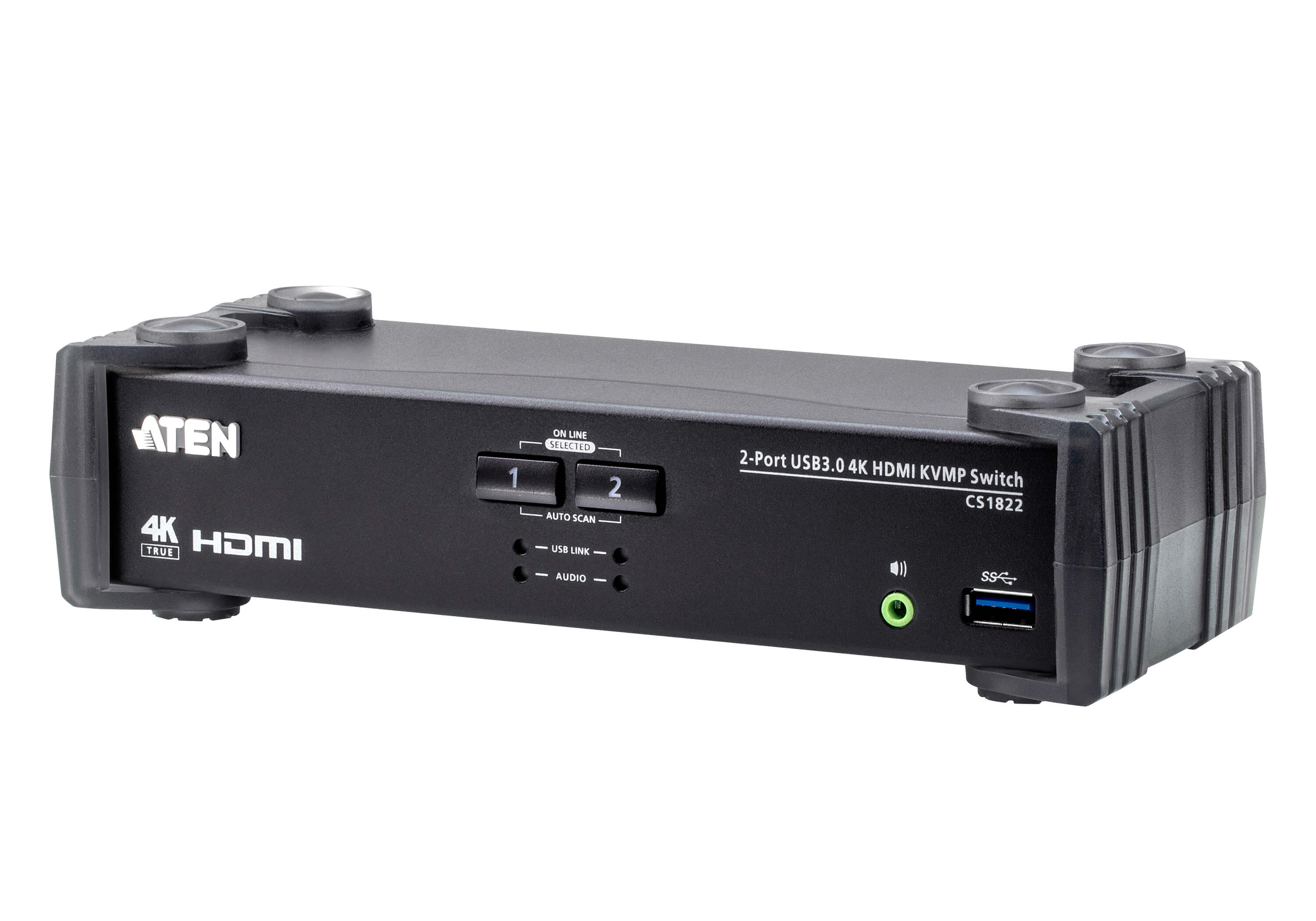 Aten 2 Port USB 3.0 4K HDMI KVMP Switch, Video DynaSync, support HDMI 2.0 4K@60Hz switching via RS-232, hotkeys, pushbuttons and mouse, 2 HDMI