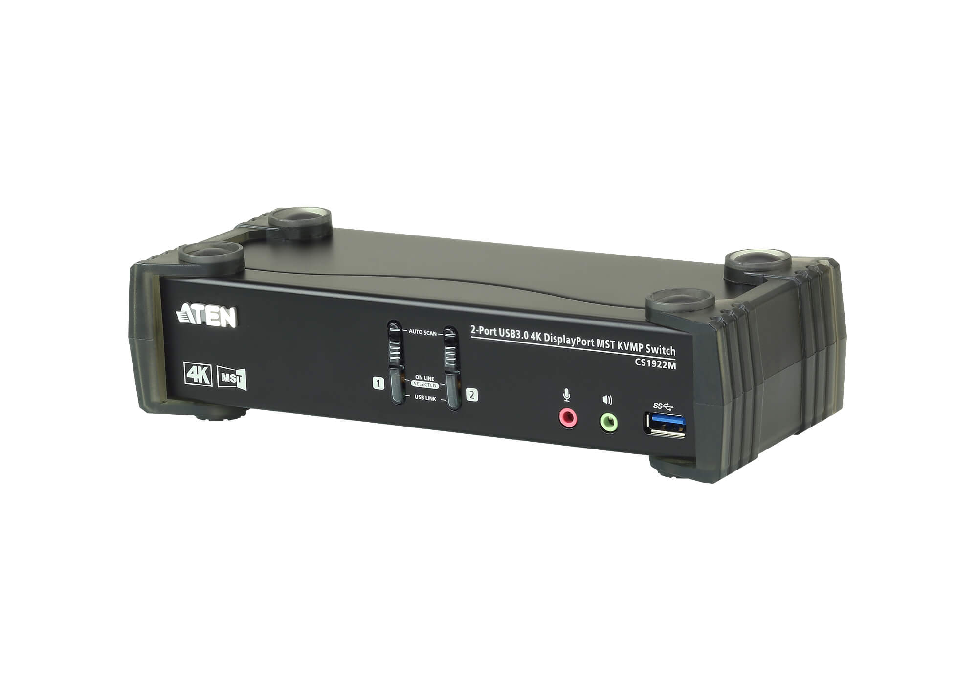 Aten 2 Port USB 3.0 4K DisplayPort KVMP Switch, Build-in MST Hub, with 1 HDMI and 1 DP outputs