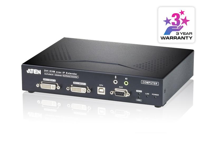 Aten DVI Dual Display KVM over IP Transimitter