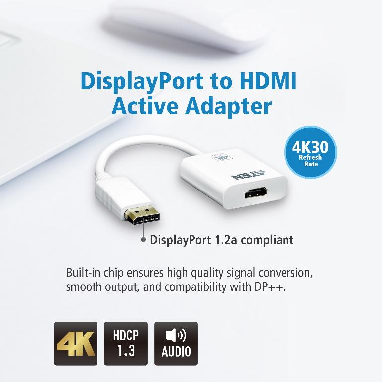 Aten VanCryst DP(M) to HDMI(F) Active 4K2K Adapter