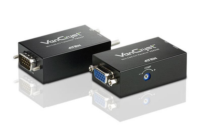 Aten VanCryst VGA Over Cat5 Video Extender with Audio - 1920x1200@60Hz or 150m Max(LS)