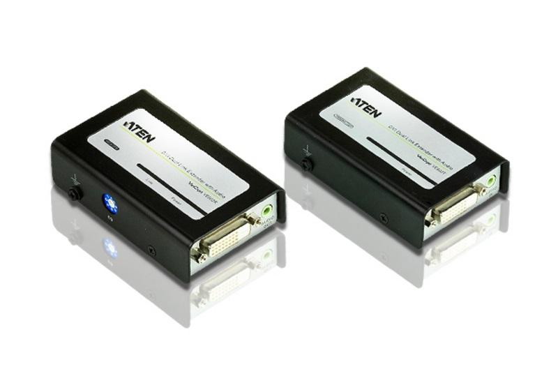 Aten DVI Dual Link Over 2 Cat 5 Extender With Audio(LS)
