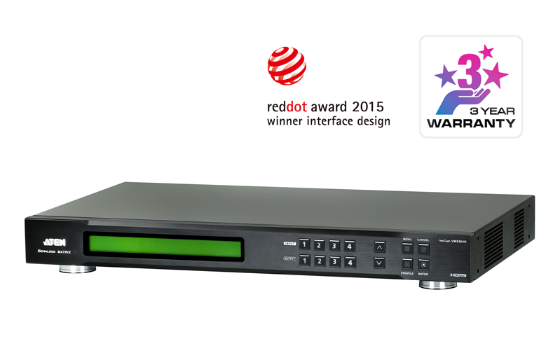 Aten 4x4 HDMI Matrix Switch with Scaler, Seamless Switch, Video Wall (PROJECT)