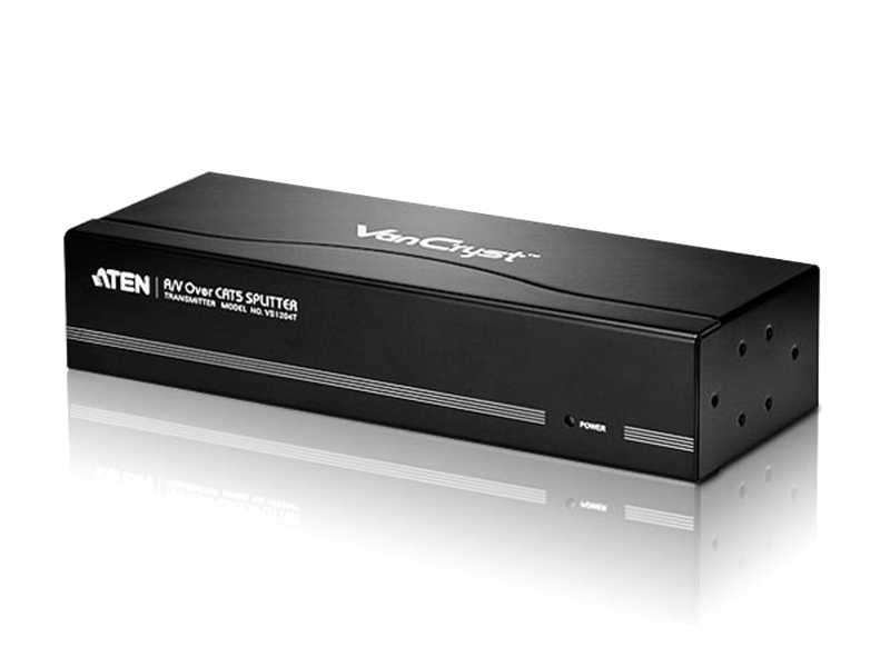 Aten VanCryst 4-Port A/V Over Cat 5 Splitter - up to 1920 x 1200@60Hz or 300m Maximum