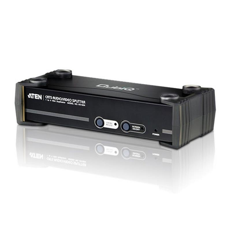 Aten VanCryst 4 Port VGA Video Splitter over Cat5 with Audio and RS-232 - 1600x1200@60Hz or 450m Max (PROJECT)