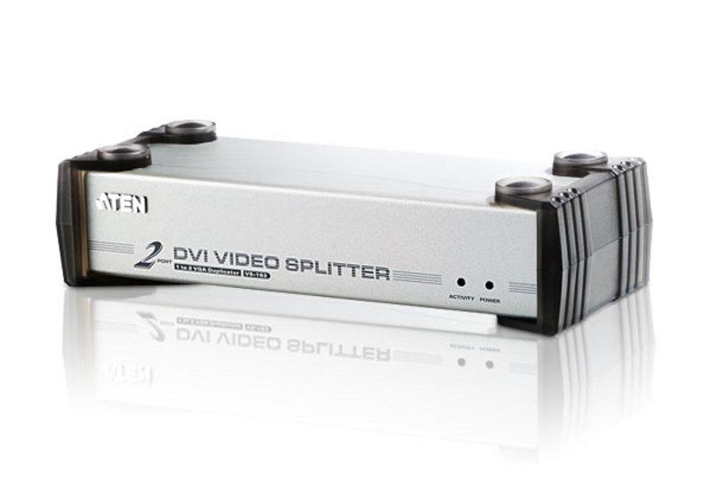 Aten VanCryst 2 Port DVI Video Splitter with Audio - 1920x1200@60Hz or 5m Max