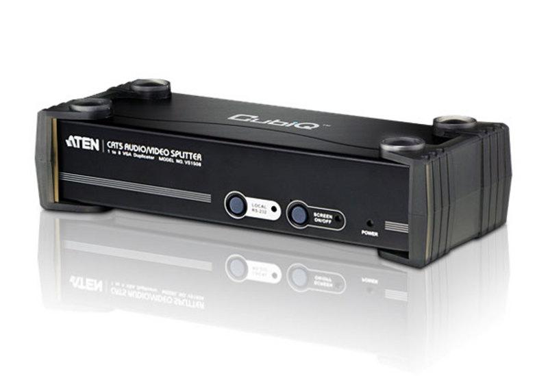 Aten VanCryst 8 Port Video CAT5 Splitter with Audio, RS-232 (PROJECT)(LS)