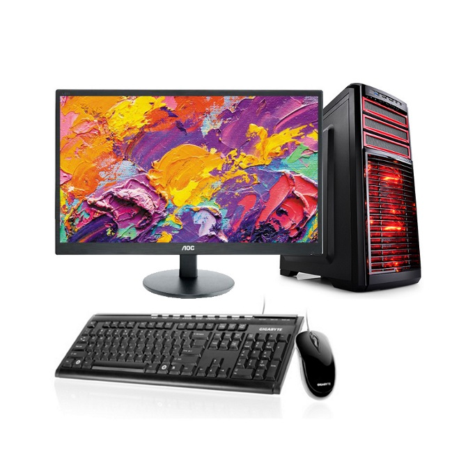LEC PERFORMANCE-8 Desktop I5-8400, 8GB DDR4, 240GB SSD + 1TB HDD,GTX 1060 3GB Graphics, 23.6' mon, WI-FI  Window 10 Home, KB + Mouse 3 years onsite