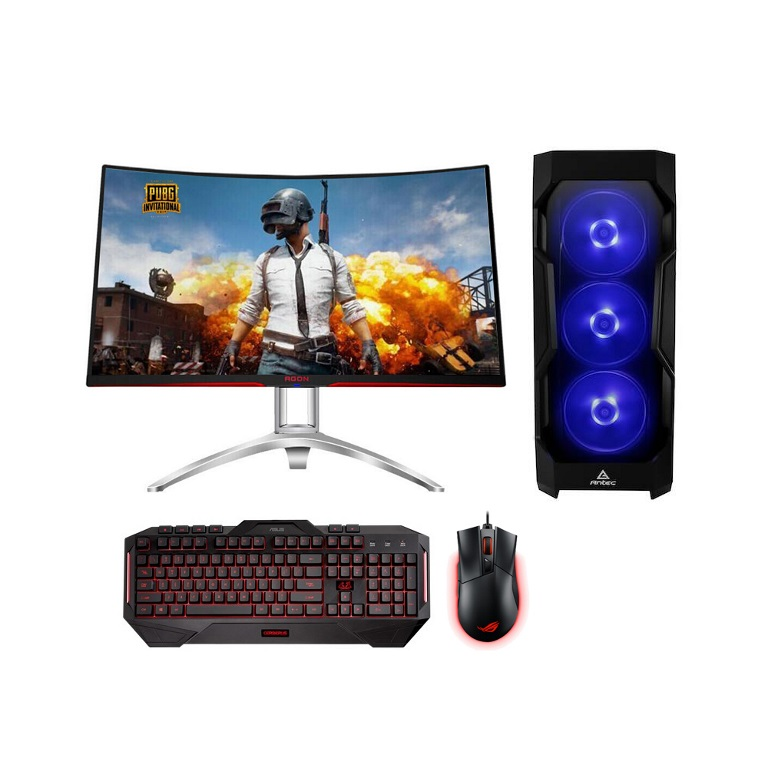 LEC XTREME-8 Desktop I7-8700K, 16GB DDR4, 500GB SSD + 2TB HDD, RTX2080 8GB Graphics, 31.5' monitor, WI-FI, Window 10 Home, KB + Mouse 3 years onsite