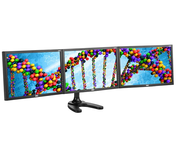Atdec Triple Deskmount Arm Support up to 3x8kg  Monitors