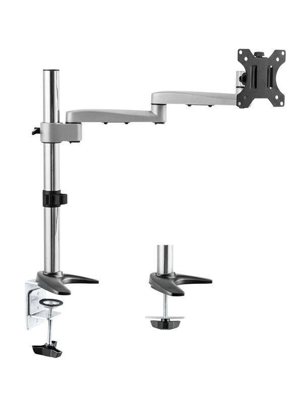 Astrotek Monitor Stand Desk Mount 44cm Arm for Single LCD Display 21.5' 22' 23.6' 24' 27' 8kg 30° tilt 180° swivel 360° rotate VESA 75x75 100x100