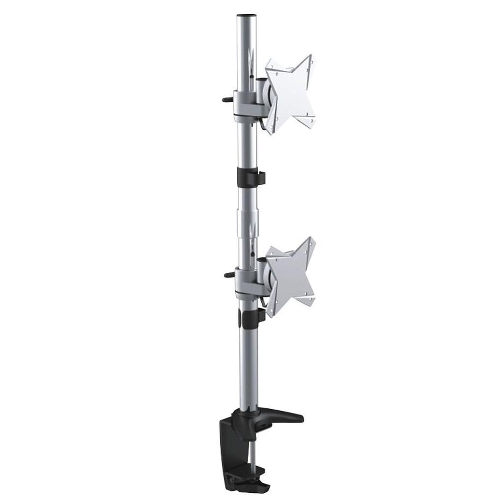 Astrotek Monitor Stand Desk Mount 43cm Arm for Dual Screens 13'-34' 10kg 15° tilt 180° swivel 360° rotate VESA 75x75 100x100 LS