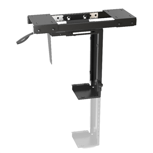 Brateck Adjustable Under-Desk CPU Mount with Sliding track, Up to 10kg,360° Swivel