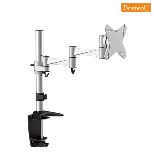 Brateck Single Monitor Flexi legant aluminium LCD VESA desk Arm Mount Up to 27', weight Capacity 8kg