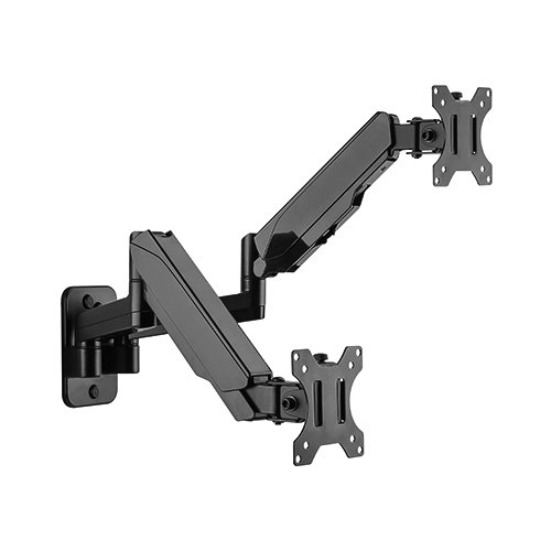 Brateck Dual Monitor Wall Mounted Gas Spring Monitor Arm 17'-32',Weight Capacity (per screen)8kg