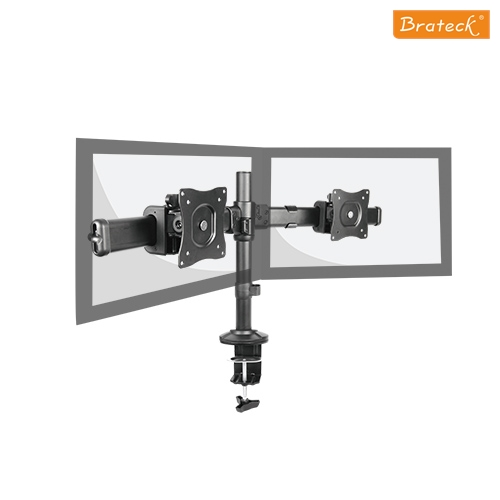 Brateck  Dual Monitor Arm with Desk Clamp VESA 75/100mm Up to 27'