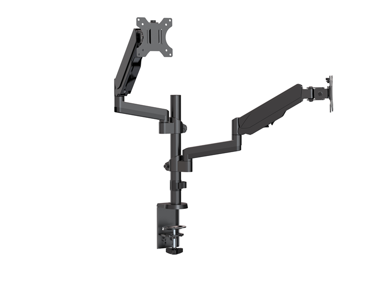 Brateck Dual Minitor  Full Extension Gas Spring Dual Monitor Arm (independent Arms) Fit Most 17'-32' Monitors Up to 8kg per screen