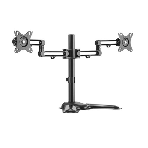 Brateck Dual Monitor Premium Articulating Aluminum Monitor Stand Fit Most 17'-32' Monitors Up to 8kg per screen