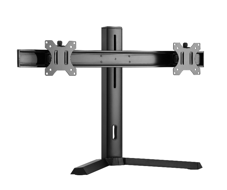 Brateck Dual Screen Classic Pro Gaming Monitor Stand Fit Most 17'- 27' Monitors, Up to 7kgp per screen-Black Color