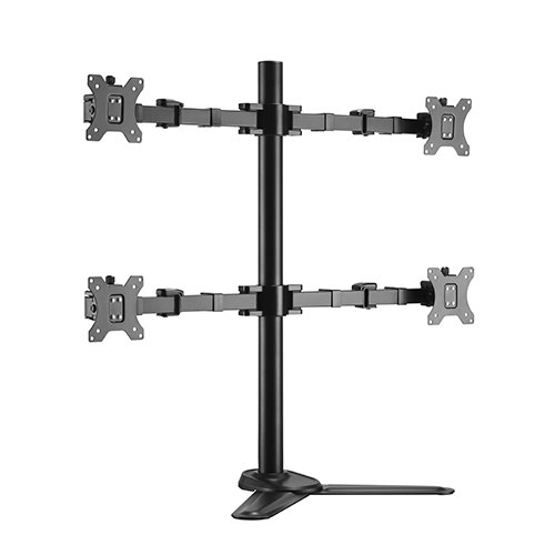Brateck Quad Monitors Affordable Steel Articulating Monitor Stand Fit Most 17'-32' Monitors Up to 9kg per screen