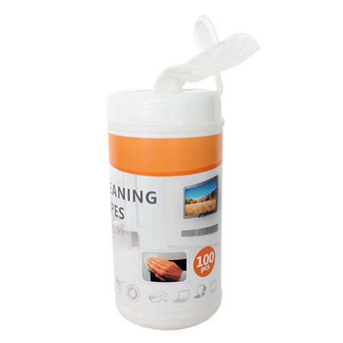 Brateck Non-Woven Cleaning Wipe 100pcs,For LCD/LED Displays Including Smartphones, Tablets, Laptops, TVs