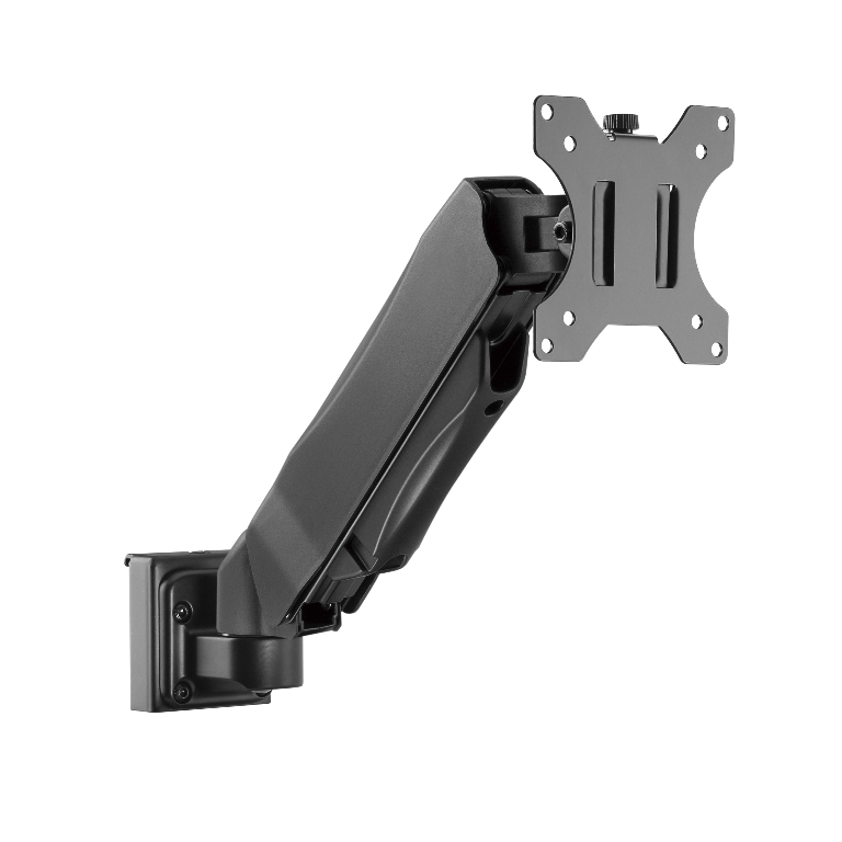 Brateck Slatwall Gas Spring Monitor Arm, Effortless Monitor Height Adjustment with Gas Spring, for 13'-27' Screen, Up to 6.5kg/Screen