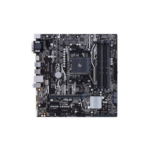ASUS AMD AM4 A320M-A/CSM uATX Motherboard, LED lighting, DDR4 3200 MHz, 32Gb/s M.2, SATA 6Gb/s, HDMI,USB 3.0