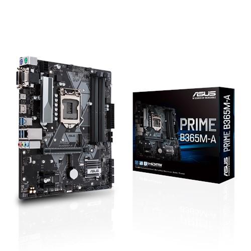 ASUS PRIME B365M-A Intel LGA-1151 mATX MB, Aura Sync RGB header, DDR4 2666MHz, M.2 HDMI, SATA 6Gbps
