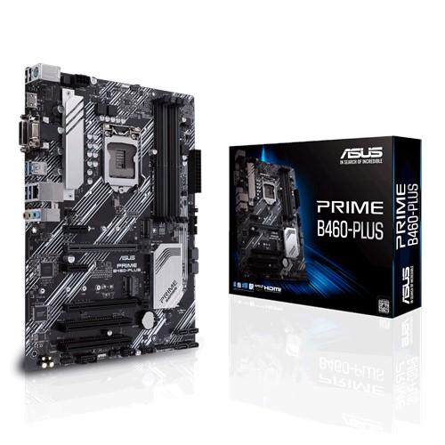 ASUS PRIME B460-PLUS ATX Motherboard 10th Gen LGA1200 DDR4 2933MHz, 2xM.2 6xSATA, HDMI, DVI, D-Sub, CrossFire