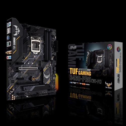 ASUS TUF GAMING B460-PRO (WI-FI) ATX Gaming Motherboard 10th Gen LGA1200 DDR4 2933MHz, WIFI6, 2xM.2, DP, HDMI, CrossFire, Aura Sync RGB