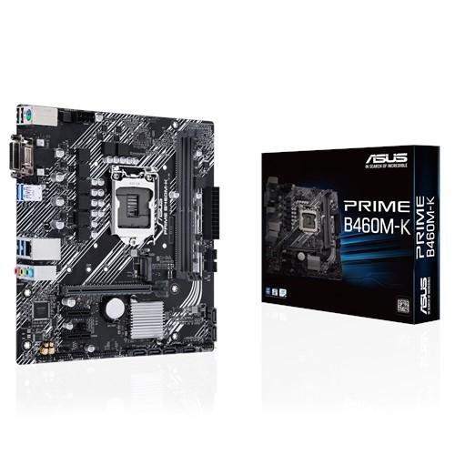 ASUS PRIME B460M-K mATX Motherboard Intel 10th Gen LGA1200, M.2 Support, DDR4, 1G Ethernet, USB 3.2 Gen1 USB Type-A