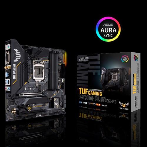 ASUS TUF GAMING B460M-PLUS (WI-FI) mATX Gaming Motherboard Intel 10th Gen LGA1200, Dual M.2, 8 Power Stages, HDMI, DP, SATA 6Gbps, USB 3.2 Gen1, Aura