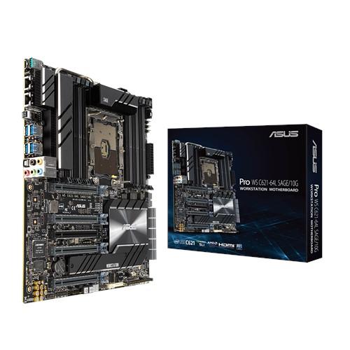 ASUS PRO WS C621-64L SAGE/10G Workstation MB 4xPCIe x 16 1xPCIe x 4 DDR4, Dual Intel LAN, M.2