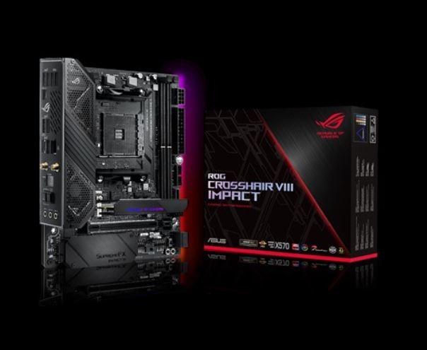ASUS ROG CROSSHAIR VIII IMPACT AMD AM4 X570 Mini-DTX Enthusiast Gaming Motherboard, SO-DIMM.2 Card (dual M.2), PCIe 4, Aura Sync,  WiFI6