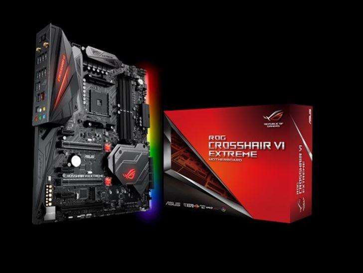 Asus Crosshair VI Extreme AM4 ATX MB 4xDDR4 6xPCe 2xM.2, 8xSATA 7xUSB3.1 1xUSB Type-C