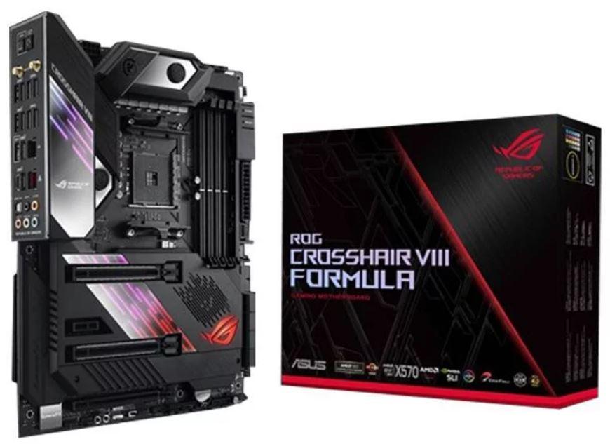 ASUS ROG Crosshair VIII Formula AMD AM4 X570 ATX Gaming Motherboard, PCIe 4.0, Wi-Fi 6 (802.11ax), 5Gbps LAN, USB 3.2, SATA, M.2, Aura Sync, WIFI6