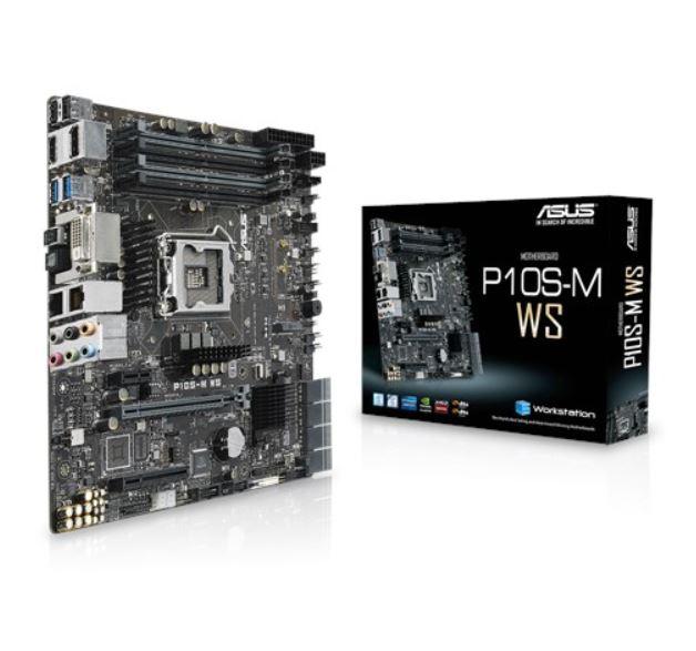 Asus P10S-M WS mATX MB 4xDDR4, 3xPCIe, 1xM.2 8xSATA, RAID, 2xUSB3.0, 2xUSB2.0, 2xLAN ports, 1xDVI, 1xDP, 1xHDMI,