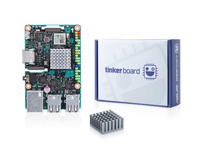 ASUS TINKER BOARD/2GB, ARM-based Single Board Computer, Rockchip Quad-Core RK3288 CPU, 2GB DDR3, ARM Mali T764 GPU, MicroSD, RTL GB LAN, Wireless N