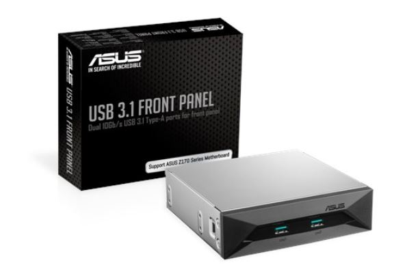 ASUS USB 3.1 FRONT PANEL Dual 10Gbit/s Backward-Compatible USB 3.1 Gen 2 Type-A Ports For PC's Front Panel