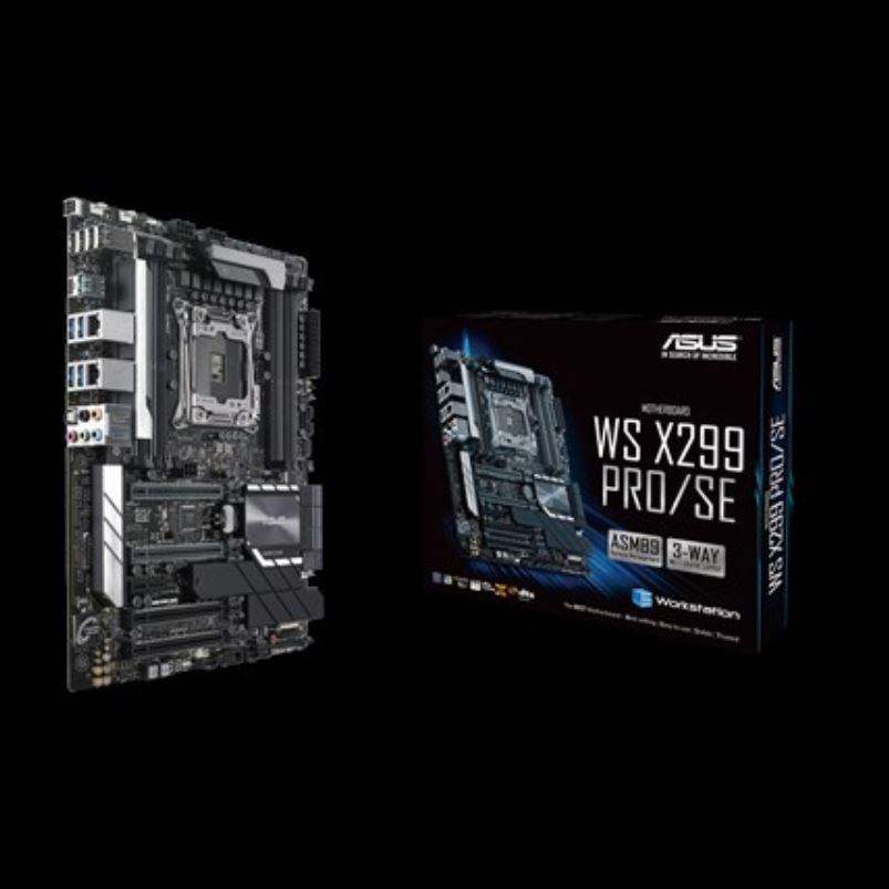 Asus X299 PRO/SE WS ATX MB 8xDDR4, 5xPCIe, 1xM.2, 6xSATA, RAID, 5xUSB3.0, 1xUSB TypeC, 2 x Intel LAN port,