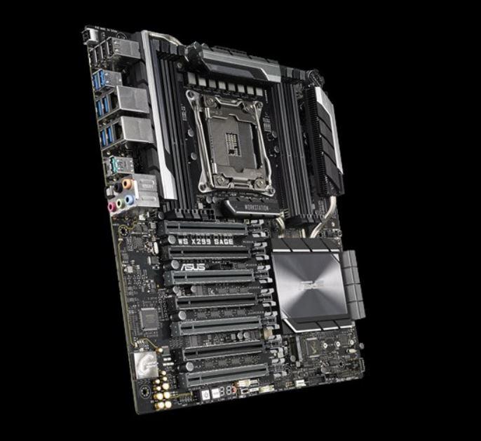 ASUS X299 SAGE WS ATX MB 8xDDR4, 5xPCIe, 1xM.2, 6xSATA, RAID, 5xUSB3.0, 1xUSB TypeC, 2 x Intel LAN port,