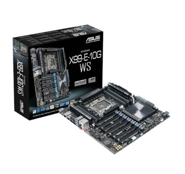 Asus X99-E-10G WS CEB MB 8xDDR4, 7xPCIe, 1xM.2 10xSATA, 5xUSB3.0, 1xUSB TypeC, 2 x Intel 10G LAN (BASE-T) Ports,