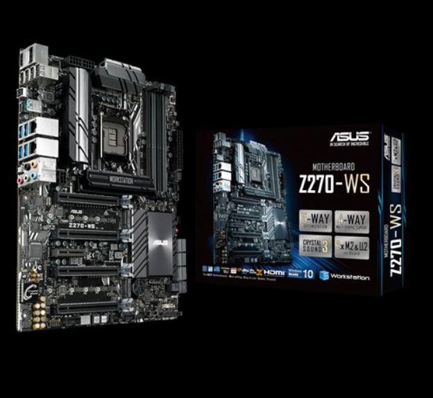 Asus Z270-WS MB 4xDDR4, 5xPCIe, 1xM.2 6xSATA, 5xUSB3.0, 1xUSB TypeC, 2 x LAN (RJ45) port(s), 1xDP, 1xHDMI