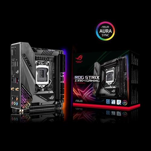 ASUS ROG STRIX Z390-I GAMING Intel Z390 LGA 1151 mini-ITX Gaming MB, DDR4 4600+, M.2, Intel Wi-Fi For 8th/9th Gen Pentium/Celeron CPUs